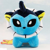 Vaporeon Plush Toy - Pokedoll Soft Animal Figures Cute Doll - Pokemon Character Rare Collectible Monster Figure Teddy