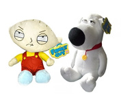 Family Guy Stewie And Brian 21cm Soft Plush Toy Twin Set