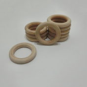 Coskiss Baby Wooden Teething 50pcs Wood Ring 2.67 Inch Outer Diameter (68mm), Teething Rings, Ring Throwing Games and More