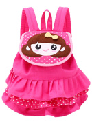 Scheppend Cake Skirt Backpack Toddler Girls Canvas Backpack for 1-3 Year Old Rose