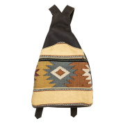 Native Comalapa Canvas and Leather Backpack Handmade by Hide & Drink :