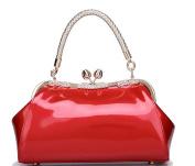 Luzuzi Retro Tote Patent Leather Bridal Wedding Evening Bag Handbag Party Purse Clutch Shoulder Hand Bag