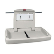 Rubbermaid Commercial Sturdy Station 2 Baby Changing Table, Platinum