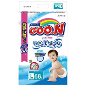 GOO.N ( Goon ) Japanese nappies nappies size - L (9-14 kg) 68 pc. // GOO.N ( Goon ) Японские подгузники size - L (9-14 kg) 68 pc.