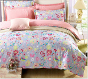 GAW Home Fashion Cotton 4-Piece Duvet Cover Bedding Set, King/California King,Quilt Cover(200*230Cm*1),Sheet(230*250Cm*1),Pillowcase
