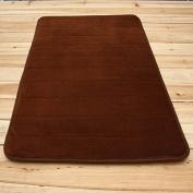 Ology(R)- 50X80cm Micro Suede Soft Bathroom Carpet Memory Foam Bath Mat