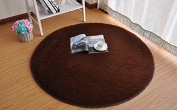 Getek Round 120cm Soft Shag Area Silky Smooth Rugs Living Room Carpet Bedroom Rug Floor Rug and Carpets for Children Play Solid Home Decorator