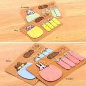 Xinantime Cute Animal Kraft Paper Mini Sticky Notes Memo Pad Gift Stationery