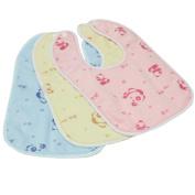 Set Of One Baby Boy Girls Painting/ Eating Velvety Bibs Random Colour -A498