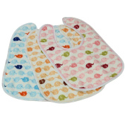 Set Of One Baby Boy Girls Painting/ Eating Velvety Bibs Random Colour -A500