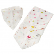 5PCS Baby Boy Girls Eating Gauze Bibs Triangular Saliva Towels Random Pattern