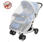 Jecxep Multifunctional Universal 150*120cm Baby Cart Full Cover Mosquito Net Travel System Insect Netting Mosquito Insect Bee Bug Net Fits Most Strollers Bassinets, Cradles and Car Seats Safe Mesh Buggy Elastic Design