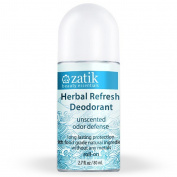Zatik Beauty Essentials - Roll On Deodorant Herbal Refresh Unscented - 80ml