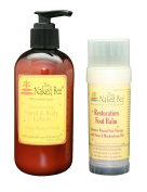 The naked bee naked bee orange blossom hand and body lotion and restorative foot balm set
