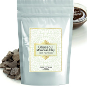Ghassoul (rhassoul) Authentic Clay Atlas 1kg Exquisite spa quality mineral-rich clay from Morocco - Face, Hair, Body Detox