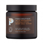 Pinks Boutique Wild Peppermint and Eucalyptus Body Salt Scrub 140 g