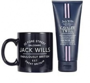 Jack Will Cavalry Twill Shower Gel ~ Jack Wills Mug Gift Set