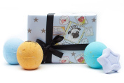 Miss Patisserie Cosmik Fizzoid Bath Bomb Gift Set - 4 Bath Fizzes pack with Essential Oil Handmade Spa Bomb Fizzie
