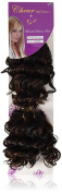Chear Deep Wave 2-in-1 Weft Human Hair Extension with Premium Blend Weave Number P1B/33, Off Black/Dark Auburn 8-Inch