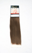 1st Lady Silky Straight Natural European Weft Human Hair Extension with Premium Blend Weave Number 5, Medium Brown 36cm