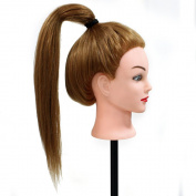 70cm Super Long 70% Real Hair Training Head Hairdressing Cut Practise Doll Mannequin Hairdresser Head 27#
