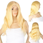 Women's Wig Full Lace Wig Blonde Curly 55 cm