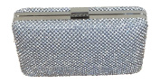 Solid Silver Diamante Clutch Bag