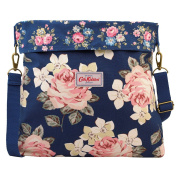 Cath Kidston Cotton Reversible Folded Messenger Bag Crossbody 16SS Richmond Rose Colour Dark Navy