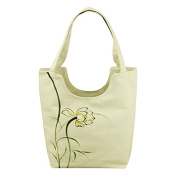 Women's literary characteristic hand-painted canvas shoulder handbags