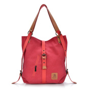 Dreambox Women Canvas leather Shoulder Bags Backpack for School/Travel/Daily Use