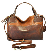 Gianni Conti Women's Shoulder Bag Brown cognac 28 x 40 x 15 cm