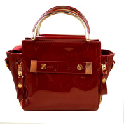 AiSi Ladies Fashion Shiny Patent Leather Tote Bag High Quality Birkin Bag Shoulder Bag Messenger Bag