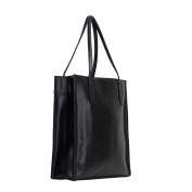 Surblue Women Simple Handwoven Leather Top Handle Commuter Tote Shoulder Shopping Bag