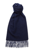 Hogarth Navy Lambswool Scarf