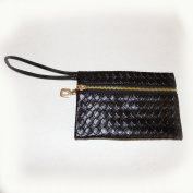 Stylish, Black Braid, Texture, Lady Handbag