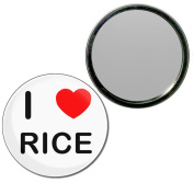 I Love Rice - 77mm Round Compact Mirror