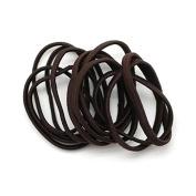 Basicare Brown Flat Snag Free Elastics 8 per pack