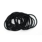 Basicare Black Thin Snag Free Elastics 20 per pack