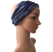 Gringo Blue Tie Dye Fair Trade Hair Head Dread Band Dreadlocks Double Wrap - Unisex