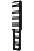 Hair Comb- a Professional Handle Carbon Fibre Comb by Majestik+, Extra Strength & Durability, Medium Tooth, Black, With Free Bespoke PVC Product Pouch