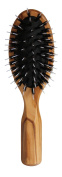 Olive Wood Hairbrush with Rubber Cushion and Pure Boar Bristles