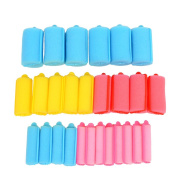inkint 27pcs 5 Sizes Colourful Soft Sponge Hair Roller Foam Hair Styling Curler Sleeping Hair DIY Curling Tool for Lady Girl