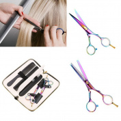 Askliy 14cm Professional Barber Hair Cutting and Thinning Scissors Comb Shears Hairdressing Sets