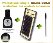PREMIUM Quality Mink gold eyelashes 8 mm -D curl - 0.2 mm for Individual Eyelash Extension. Blink Lash Stylist alternative! For professional use!!! ...
