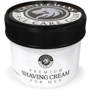 Shaving Cream - .  NOW Gentlemans Face Care Club Premium Quality Shave Cream For Men - A Luxurious, Close Shave That Leaves Your Skin Feeling Soft, Smooth and Refreshed - Large 60 Day Supply 150ml Pot + 100.