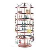 Soriace® Rotation Jewellery Display Stand Hanging Earrings Rack Jewellery Holder Hanger Organiser, Round