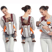3 Way Infant Baby Carrier Front & BackPack - Safe Toddler Belt Chest Buckle - Easy To Carry Portable - One Size Fits All Cosy and Classic - Comfortable & Ergonomic