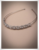 Crystal Innovation- 9859 Vintage plated crystal aliceband / tiara. This comes packed in a cream giftbox.