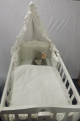 New Cream 3piece Swinging Crib Bedding Set