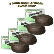Dudu-Osun African Black Soap (100% Pure) Pack of 4 Body Care / Beauty Care / Bodycare / BeautyCare